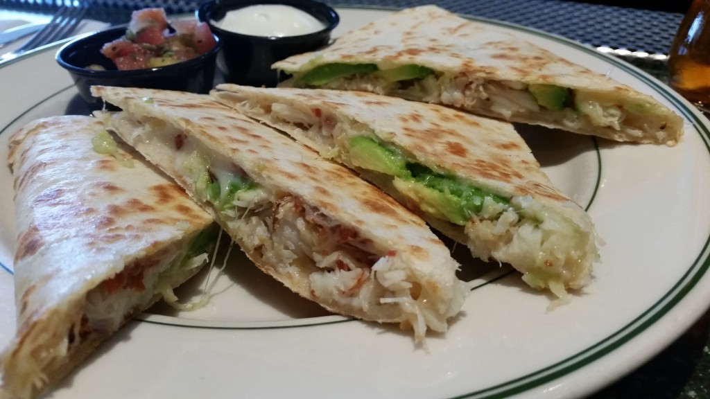 Crab Avocado Quesadilla